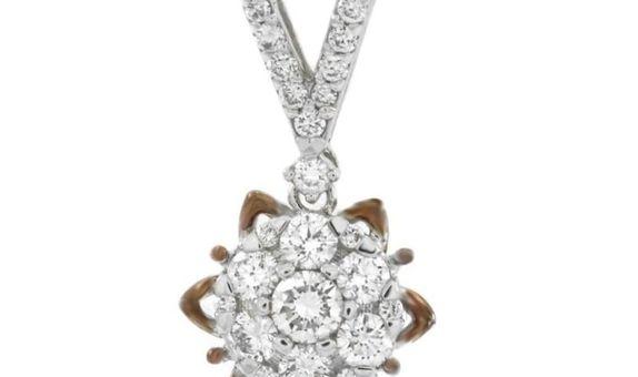 Liontin Emas Berlian Wanita DP00289 V&Co Jewellery