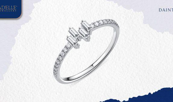 Cincin Berlian Adelle Jewellery - Bertha Diamond Ring - Baguette