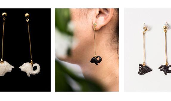 Kamaratih Kamajaya earring Bone/Horn