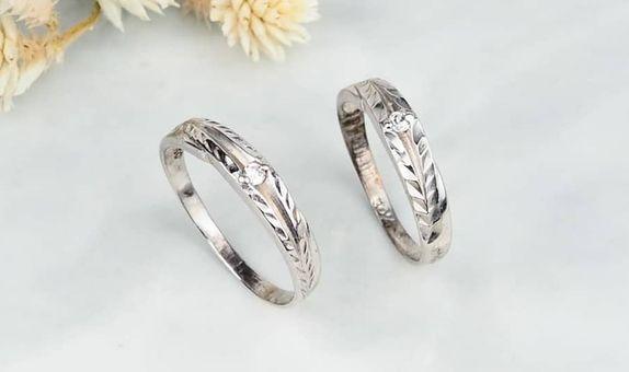 Wedding Ring Cincin Nikah Couple Cincin Kawin Couple Silver 925