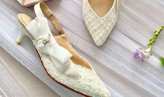Jillian White Wedding Shoes Women Kitten Heels 5cm