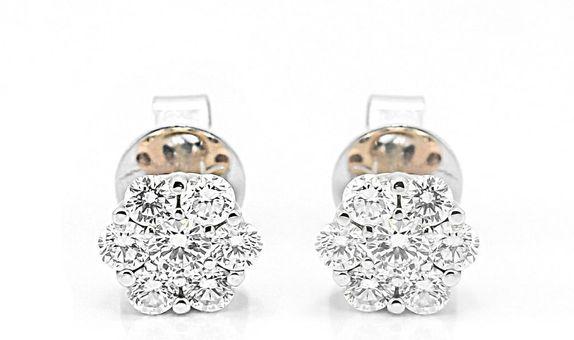 Anting Emas Berlian Wanita DEP000002 V&Co Jewellery