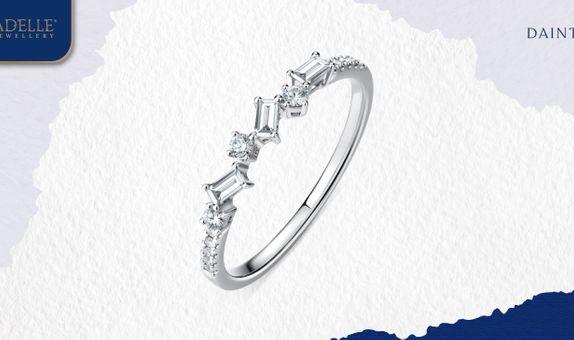 Cincin Berlian Adelle Jewellery - Amy Diamond Listring - Baguette