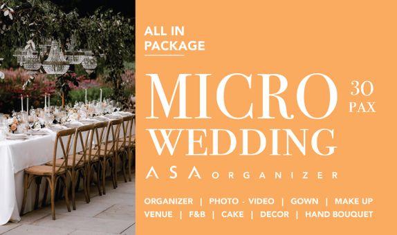 MICRO WEDDING / 30 PAX