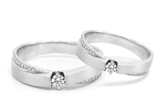 Cincin Kawin Berlian Cincin Emas Cincin Paladium WR0268 V&Co Jewellery