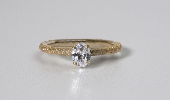 Coral - Solitaire 0,3ct