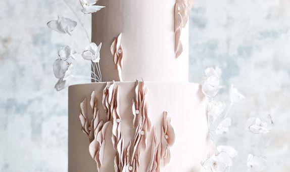 3 Tiered Wedding Cake - Bare Blush