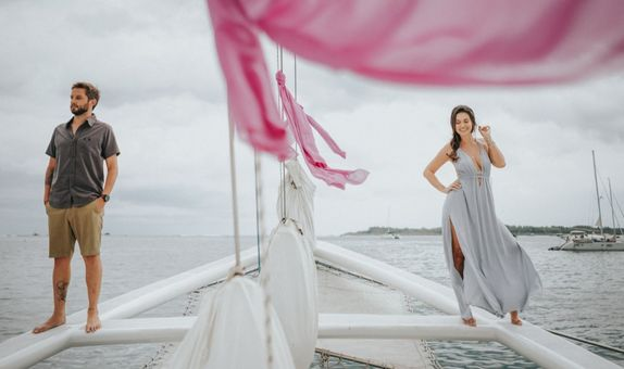 Prewedding Classic Photo Session On A Sailing Yacht - Floating Package