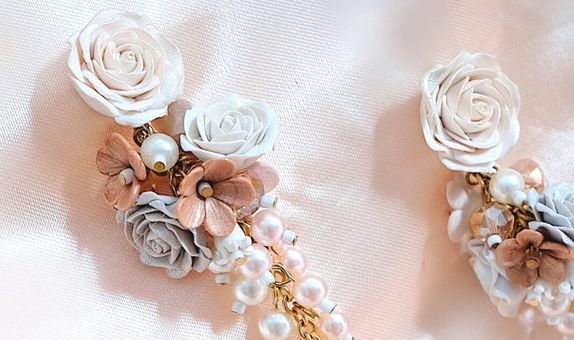 Wedding Pearl Rose Vintage