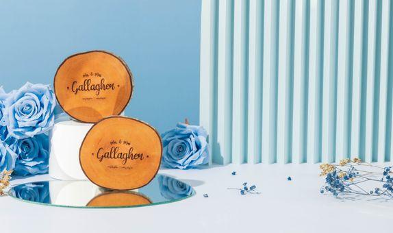 Engraved Wooden Coaster / Souvenir Tatakan Gelas Kayu