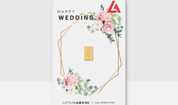 "LM Lotus Archi Press Certieye Gift Series ""Happy Wedding"" 0,5 Gram"