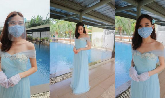 Baby Blue Sabrina 2 Gown Rent