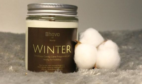 Bhava Soy Wax Candle with Premium Fragrance