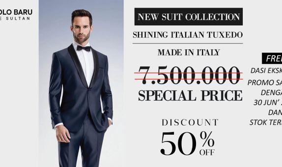Shiny Wedding Suit