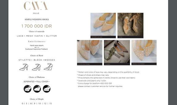 CAVA Privé - Simple Category Wedding Shoes