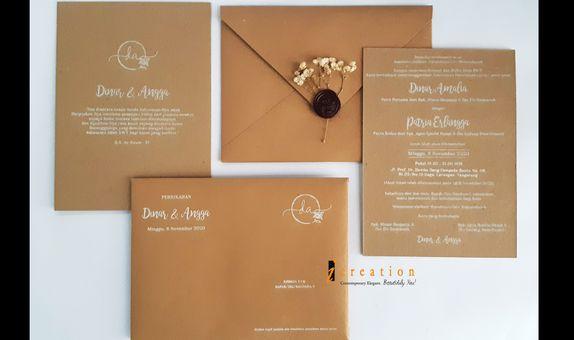 Paket 50pcs Simple Wedding Invitation 1