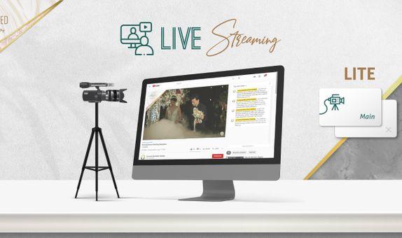 1 Session LITE Live Streaming 1 Cam for Matrimony OR Reception