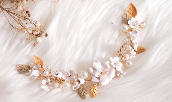 Wedding Camellia Lily Vintage Hairpiece