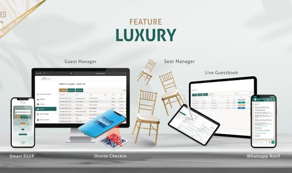 e-Guestbook, RSVP, Guest List, Seat Management for Luxury Wedding