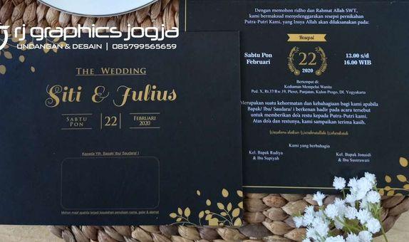 undangan pernikahan softcover + amplop