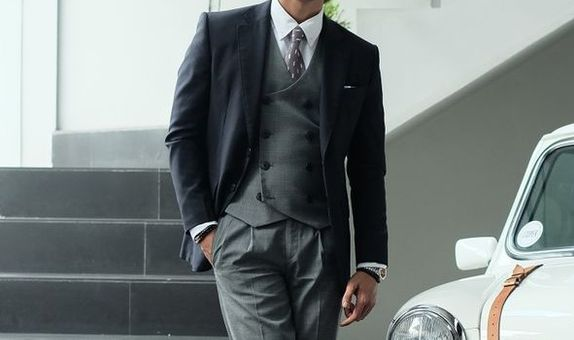 Single Breasted Business Suit with Vest WWS 2021