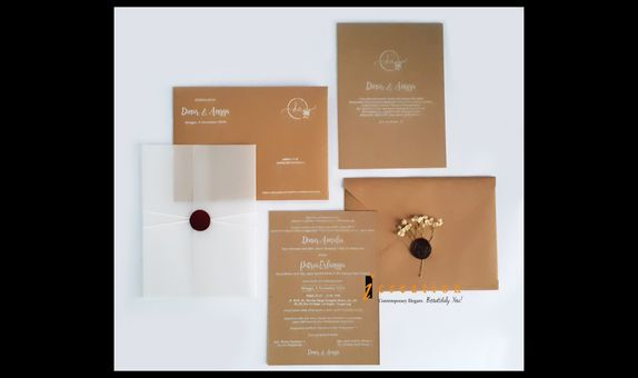 Rustic Simple Wedding Invitation 1