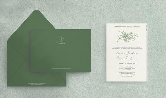 (Letterpress) 50 pcs Full Custom Invitation