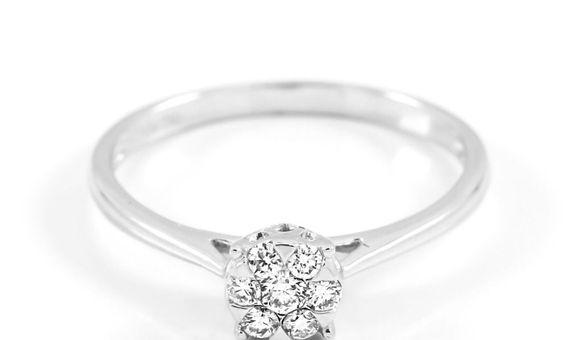 Cincin Emas Berlian Wanita DR001769 V&Co Jewellery