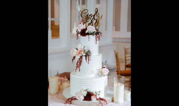 3 Tiered Wedding Cake A