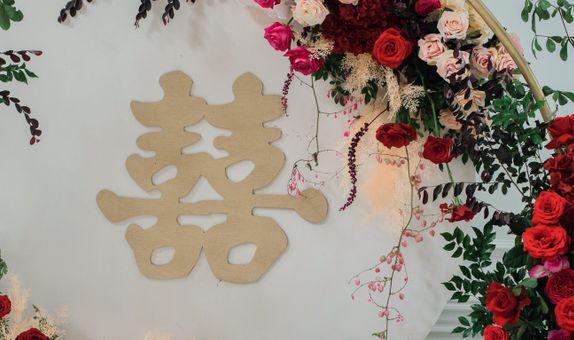 Minimalist sangjit decoration