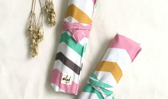 Cutlery roll pouch