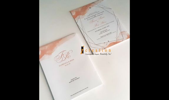 Paket 50pcs Simple Wedding Invitation 4