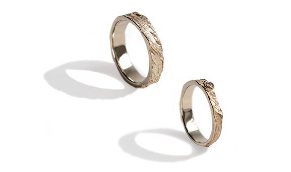 Desert - Wedding Ring Set (Yellow)
