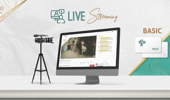 2 Sessions BASIC Live Streaming 1 Cam for Matrimony & Reception