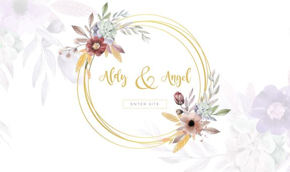 Beautiful Custom Wedding Website