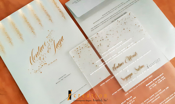 Paket 50pcs Wedding Invitation Large Acrylic 2