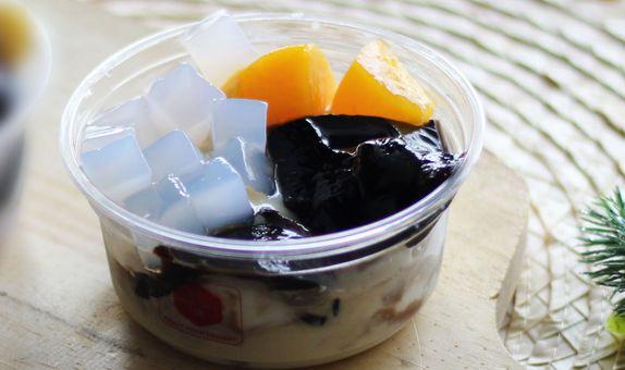 Mango Soup Grass Jelly