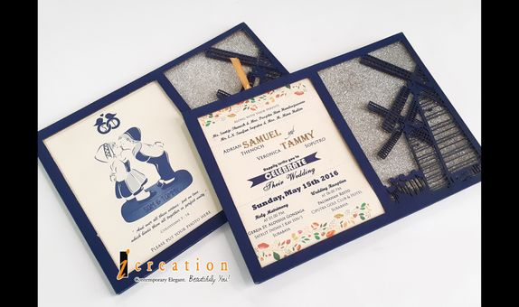 Paket 50pcs Photo Frame Wedding Invitation 2