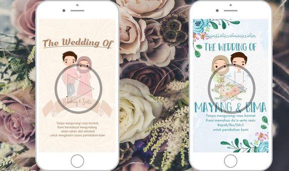 Undangan Digital Video Pernikahan Animasi