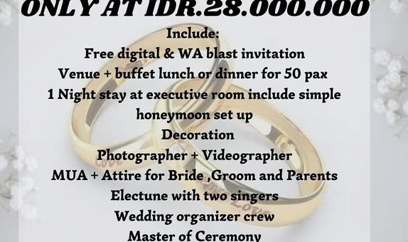 All inclusive intimate wedding package