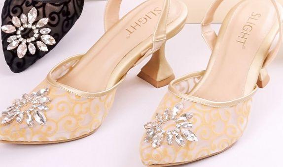 Sepatu Sandal Fleur Gold