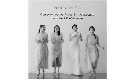 CUSTOM RENT BRIDESMAID DRESSES