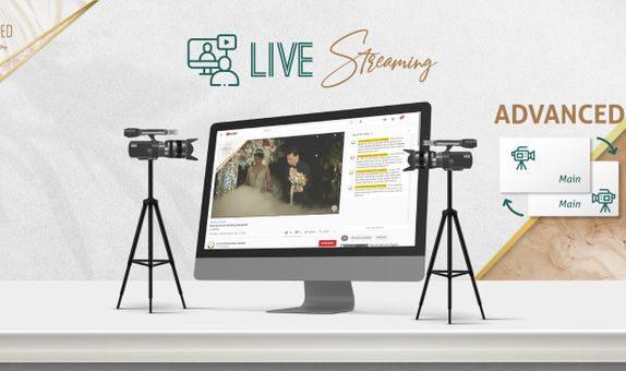 1 Session ADVANCED Live Streaming 2 Cams for Matrimony OR Reception