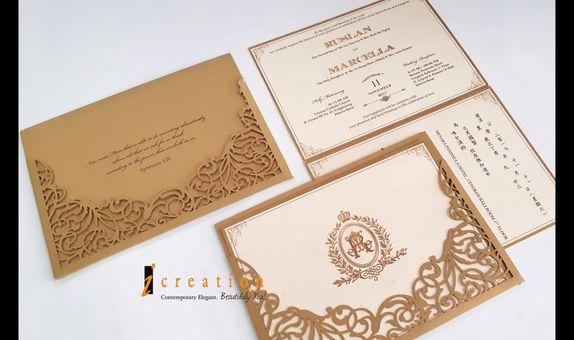 Paket 50pcs Simple Elegant Invitation 6