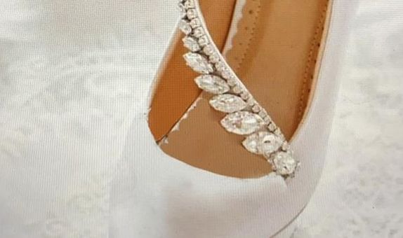 SONYA 12cm thin heels white custom quotation for ms, Eunike Alexandra
