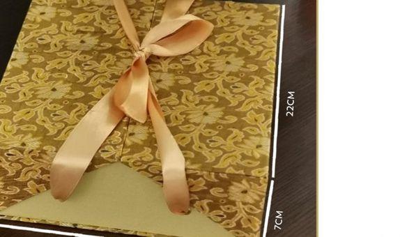 Ribbon Box Batik Gold