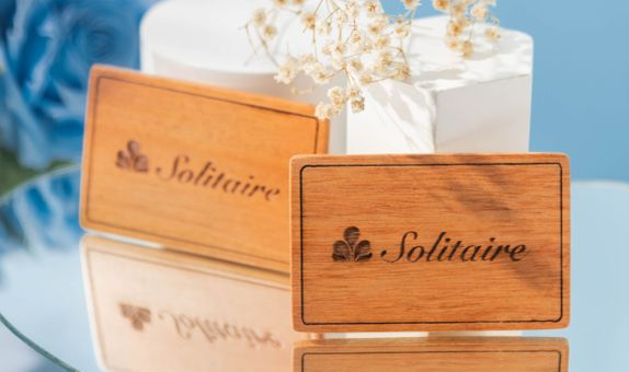 Engraved Wooden Wedding Tag / Souvenir Tag Kayu