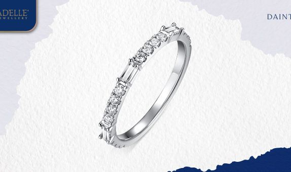 Cincin Berlian Adelle Jewellery - Gracia Diamond Listring - Baguette
