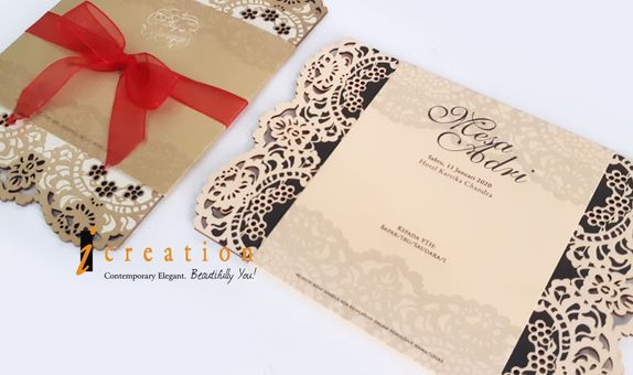 Special Package 23 - 50Pcs Simple Laser Cut Invitation