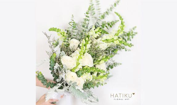Pretty in White Bridal Bouquet
